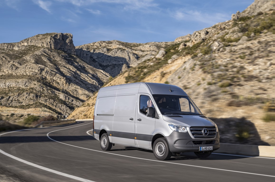 Mercedes-Benz Sprinter Kastenwagen – Exterieur, Brillantsilber Metallic, Hinterradantrieb Mercedes-Benz Sprinter panel van – Exterior, brilliant silver metallic, Rear-wheel drive