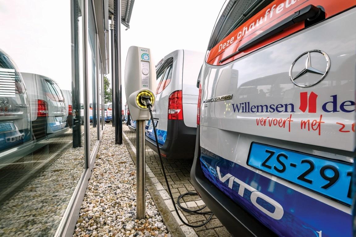 Großauftrag: 80 eVito Tourer für Flottenbetreiber Willemsen-de Koning aus den Niederlanden;Stromverbrauch kombiniert: 24,2 - 20,2 kWh/100 km; CO2-Emissionen kombiniert: 0 g/km* Large order: 80 eVito Tourer for fleet operator Willemsen-de Koning from the Netherlands;Electricity consumption combined: 24.2 – 20.2 kWh/100 km; CO2-emissions combined: 0 g/km*