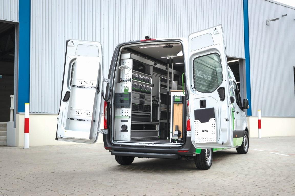 Mercedes-Benz Sprinter – Branche Service und Dienstleistungen (Werkstattausbau), Bott, Interieur Mercedes-Benz Sprinter – Branch Service and Crafts (Workshop expansion), Bott, Interior