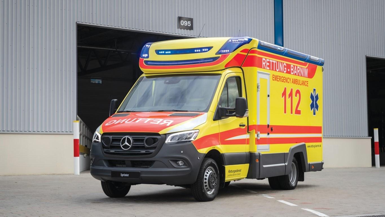 Mercedes-Benz Sprinter – Branche Einsatz und Kommunal (Krankenwagen), AMS Ambulanzmobile, Exterieur Mercedes-Benz Sprinter- Branch Emergency, Rescue and Municipal (Ambulance), AMS Ambulanzmobile, Exterior