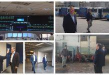 Επίσκεψη της πολιτικής ηγεσίας του Υπουργείου Υποδομών και Μεταφορών στο Κέντρο Ελέγχου του Μετρό στο Σύνταγμα και στο αμαξοστάσιο λεωφορείων στον Βοτανικό