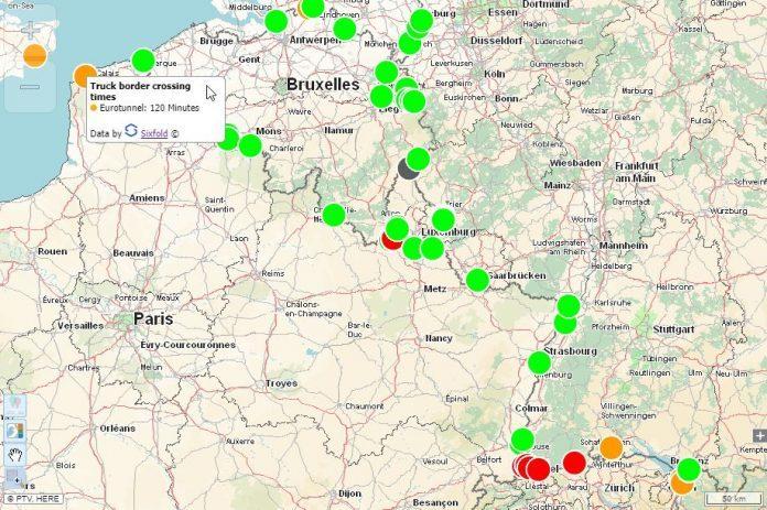 Διαδικτυακός Χάρτης & Οδηγός δείχνει τις καθυστερήσεις στα ευρωπαϊκά σύνορα για τα φορτηγά