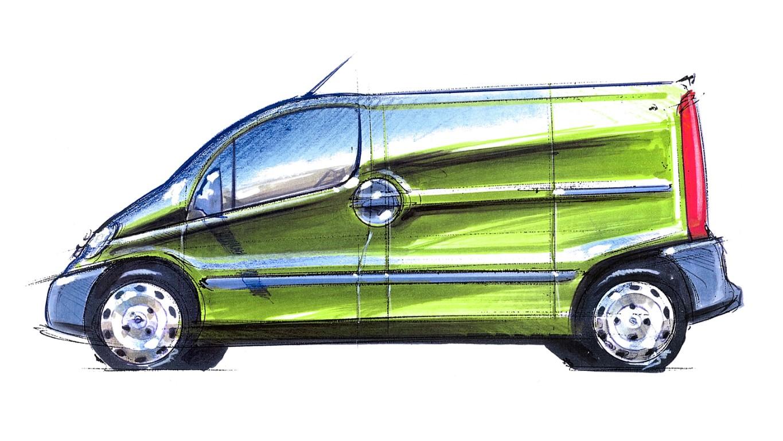 Opel Vivaro A, Design sketch